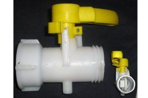 Valvula para IBC en Plastico